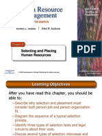 HRM10eChap08- Selecting, Placing Human Resources