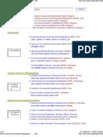 DRDO Lab Index