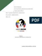 TEMA II  PROYECTO NACIONAL DE FORMACION.doc