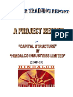 Capital Structure of Hindalco Industries Limited