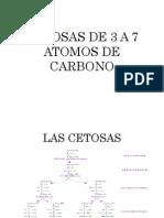 Cetosas de 3 a 7 Atomos de Carbono