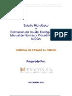 Anexo XI.- Caudal Ecologico Segun Manual de Normas y Procedimientos de La DGA