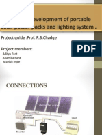 Design and Development of Portable Solar Power Packs2-Pre-final