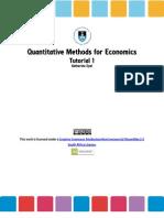 Quantitative Methods for Economics, Tutorial 1