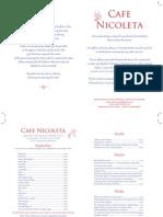 Cafe Nicoleta Delivery Price List