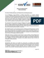 13thAteneo FactCheck 2013 Project Brief