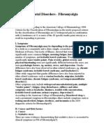 Musculo-Skeletal Disorders - Fibromyalgia