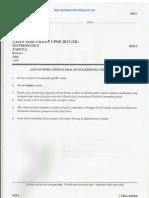 UPSR Percubaan 2012 Pahang Matematik Kertas 1