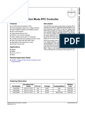 FAIRCHILD CRITICAL CONDUCTION MODE PFC FAN7530 3 or 5 pcs SOIC-8-1