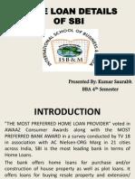 Home Loan Details of Sbi (Bba 4th Sem.)