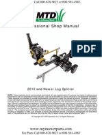 Log Splitter Repair Manual MTD Cub Cadet 2010 and Newer