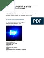 como hacer un vumetro de 10 leds Proyecto electrónica basic