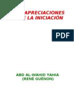 Guenon, Rene - Apreciaciones Sobre La Iniciacion