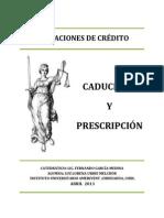 CADUCIDAD Y PRESCRIPCIÓN