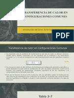 Transferencia de Calor en Configuraciones Comunes