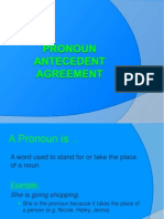 Pronouon Antecedent Agreement
