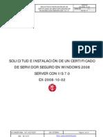 Servidores Sertificado - EXCHANGE 2010