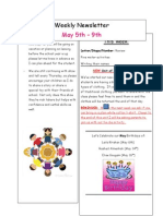 weekly newletter may 5-9