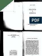 Weber, Max - El Politico y El Cientifico