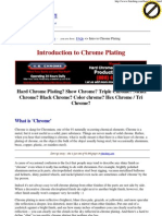 Introduction to Chrome Plating