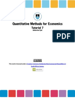Introduction to Econometrics, Tutorial (2)
