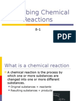 Sec 8-1 Describing Chemical Reactions