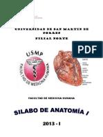 Silabo de Anatomia 2013-i