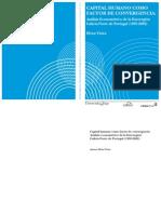 LIBRO_ CAPITAL HUMANO Como Factor de Convergencia Analisis Econometrico de La Euroregion Galicia-Norte de Portugal (1995-2002)_Elvira Vieira