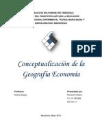 La Geografía Económica es una de las disciplinas que se enmarcan dentro del contexto de las ciencias sociales