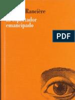 El Espectador Emancipado- J Ranciere