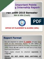 BBA and MBA(Credit)Internship-Fall2009-2010 Semester