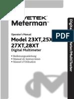 Meterman Wavetek 23XT 25XT 27XT 28XT Manual