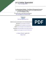 Treatment of Plantar Fasciitis in Recreational Athletes