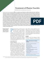 Diagnosis and Treatment of Plantar Fasciitis