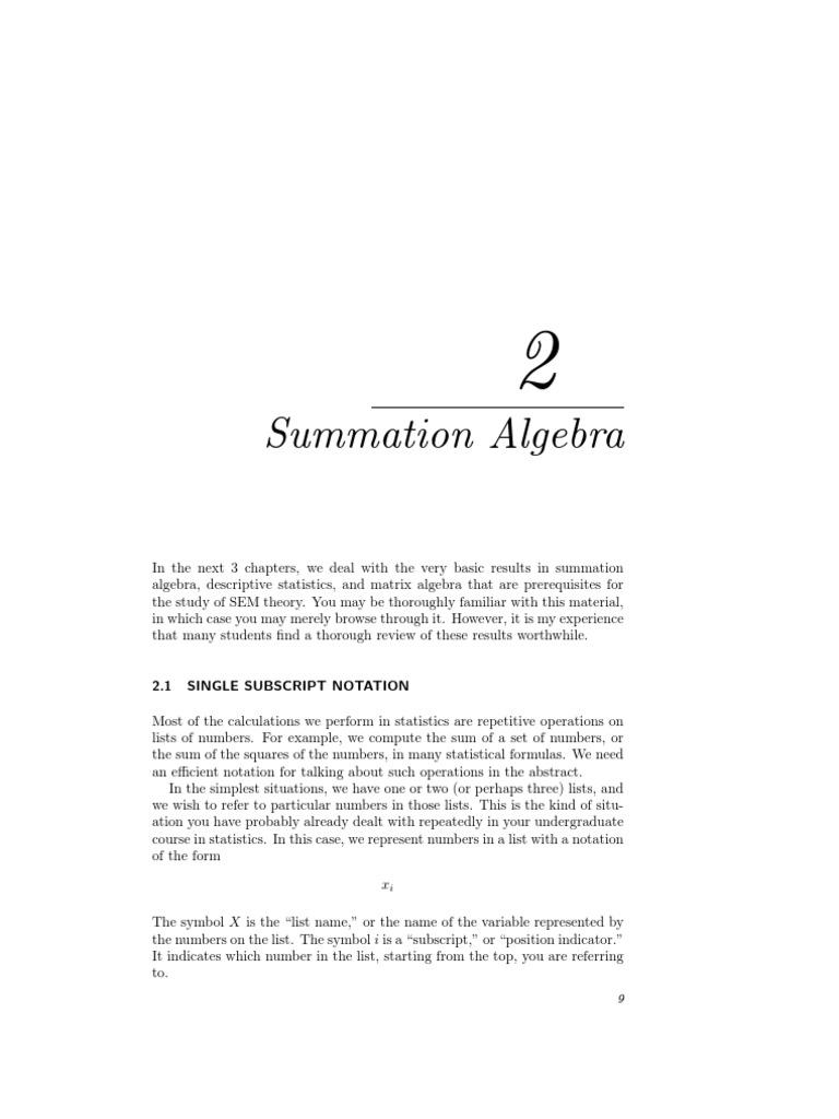 Summation Algebra Summation Matrix Mathematics