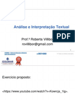 Analise e Interpretacao Textual Roberta Villibor