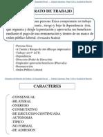 Contrato y Relacion (Dcho. Laboral)