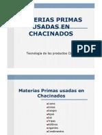Materias Primas Usadas en Chacinados