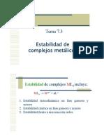 Estabilidad de Complejos Metalicos