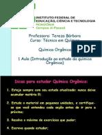 1-INTRODUÇÃO A QUÍMICA ORGÂNICA-2º ANO