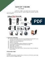 User Manual for YSB-001 (Camara Avion)