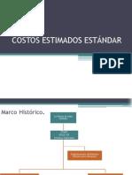 COSTOS ESTIMADOS ESTÁNDAR