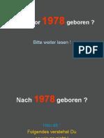 Bist Du Vor 1978 Geboren ? Bitte Weiter Lesen