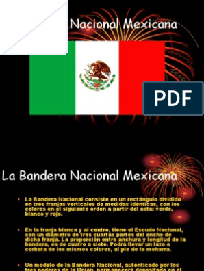 partes de la bandera nacional mexicana