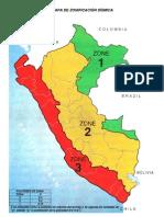 Mapa de zonificación sísmica