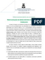 Edital 021 Premio Mauricio Bentes