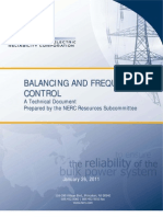 NERC Balancing and Frequency Control 040520111