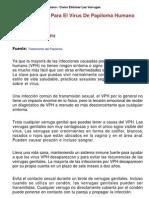 Tratamiento Papiloma Humano Como Eliminar Las Verrugas1866scribd