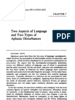 Roman Jakobson - Two Aspects of Language and Two Types of Aphasic Disturbances
