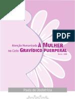 Livro de condutas em obstetrícia da prefeitura